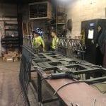 Commercial Iron Bollards Installation