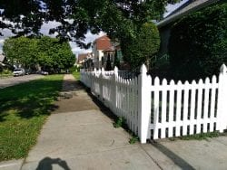 Picket Wood Fence Styles-residential wood picket fence