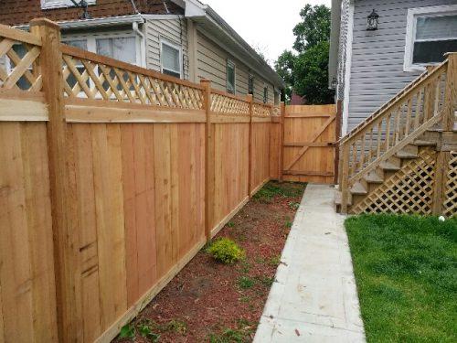 Shadowbox Wood Fence Styles-wood fence companies near me