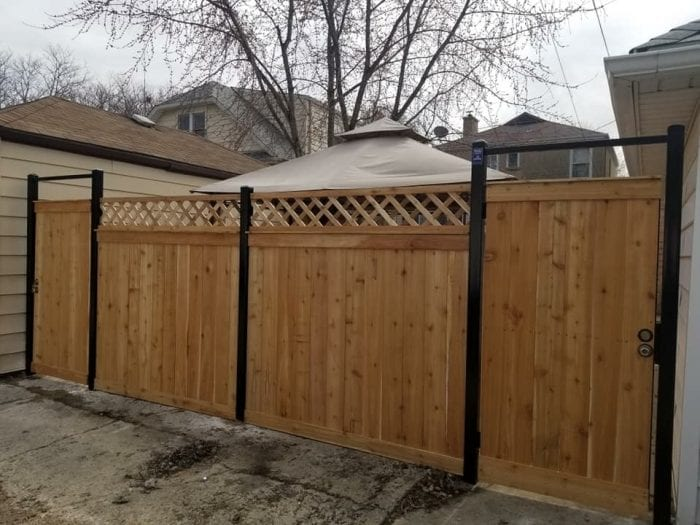 Steel Post Wood Fence Options-wood fence contractors