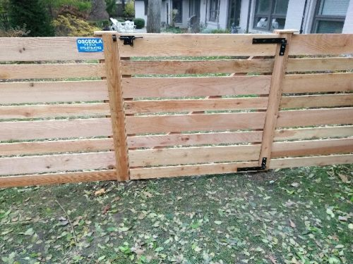horizontal fence styles-wood fence designs