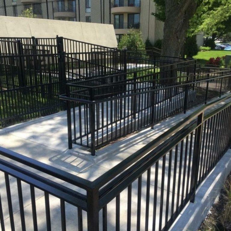 commercial exterior handrails