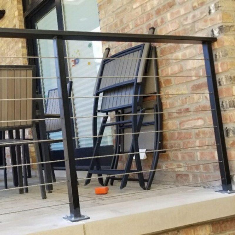 iron railing installation