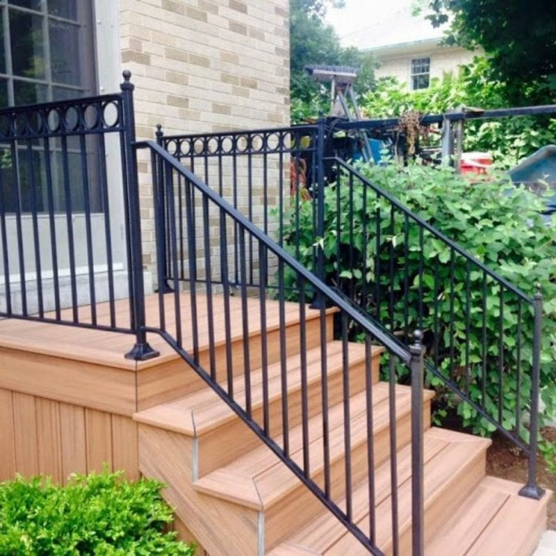 installing wrought iron balusters
