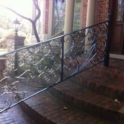 installing wrought iron railings on stairs