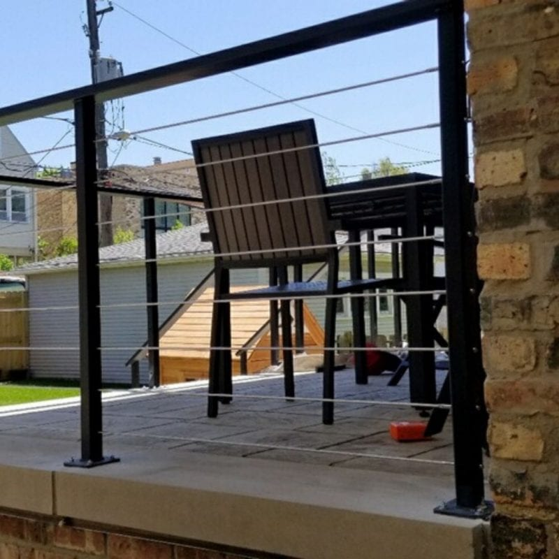 iron railing installation