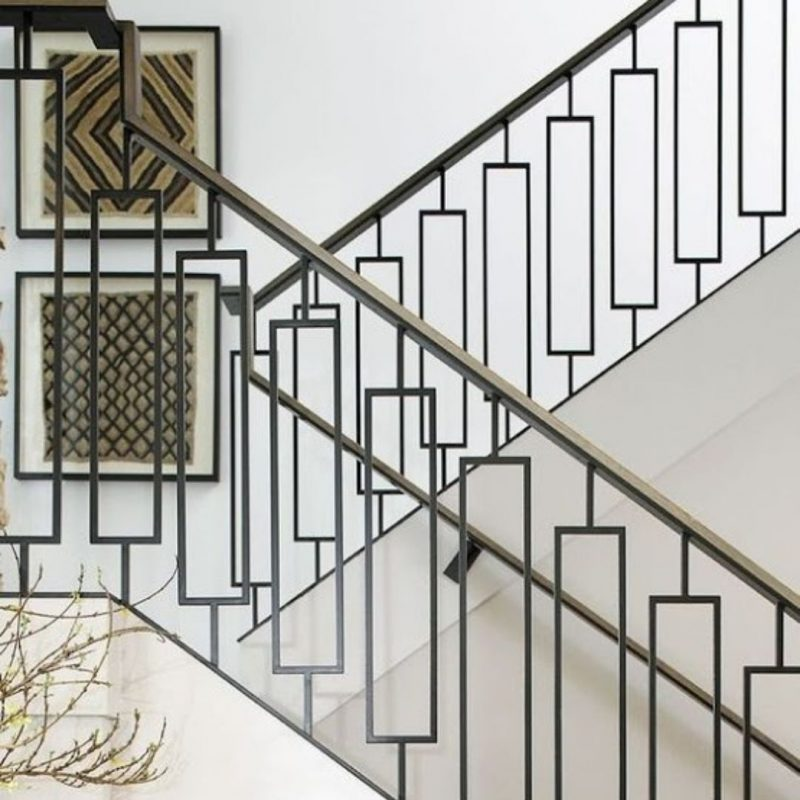 replacing balusters with iron