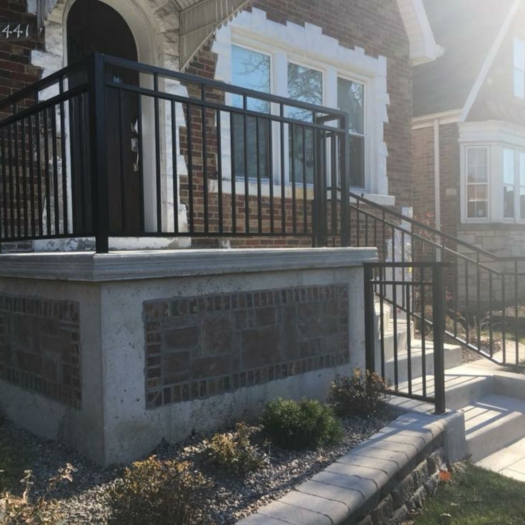 Iron Railing Installation Chicago Residential Fence