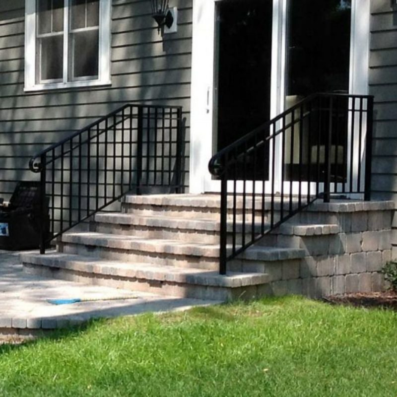 wrought iron railing installation