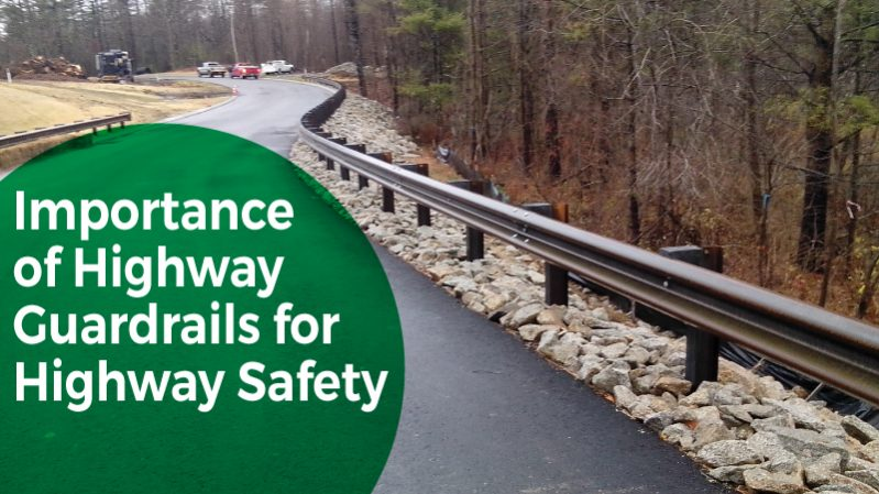 highway guardrails on the road