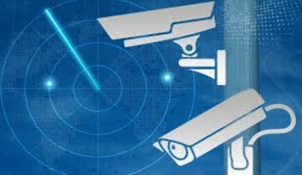security camera, radar