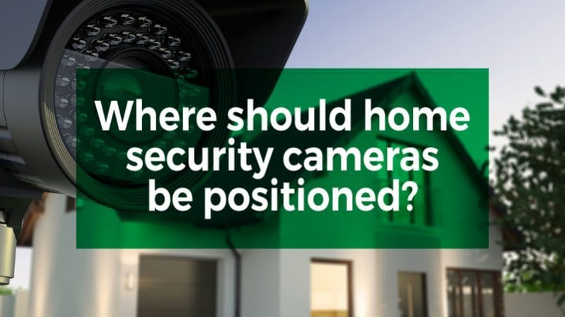 home security camera positioned
