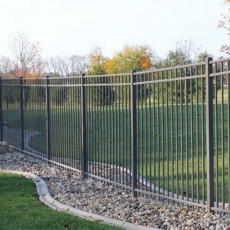 Aluminum Commercial Fences in Chicago