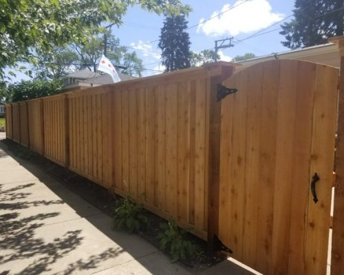 Board On Batten Fence Styles-wood privacy fence