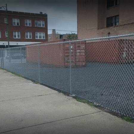 Osceola chicago fence company dumpster enclosure 2