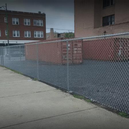 Osceola chicago fence company dumpster enclosure 2