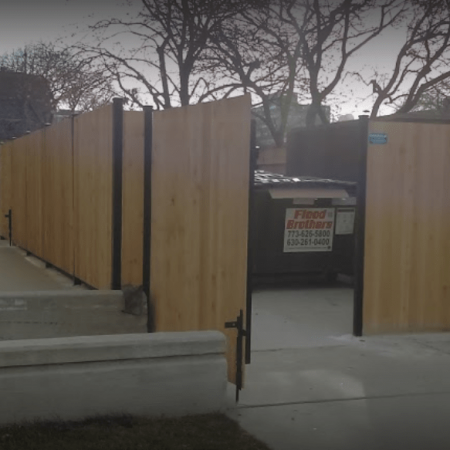 Osceola chicago fence company dumpster enclosure 5