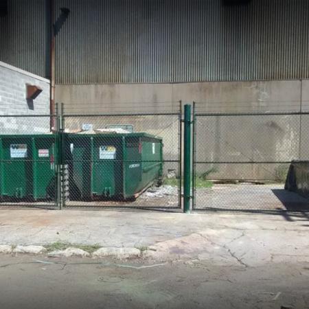 Osceola chicago fence company dumpster enclosure 6