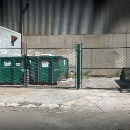 Osceola chicago fence company dumpster enclosure 6