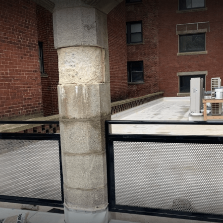 Osceola chicago fence company roof guardrails 2