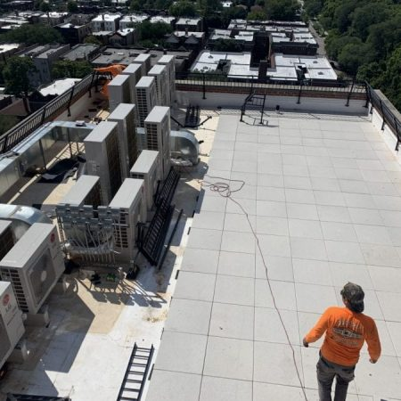 Roof railing system Chicago