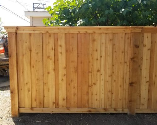 Solid Board Wood Fence Styles-Wood fence panels