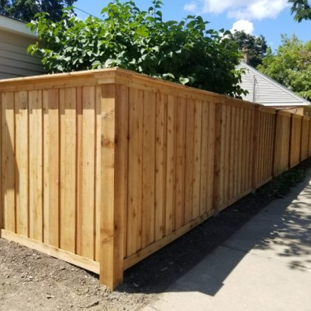 Solid Board Wood Fence Styles-wood fence installation