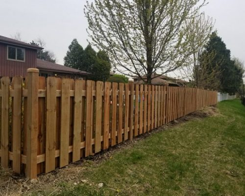 Spindle Picket Wood Fence Styles-residential wood fence contractor