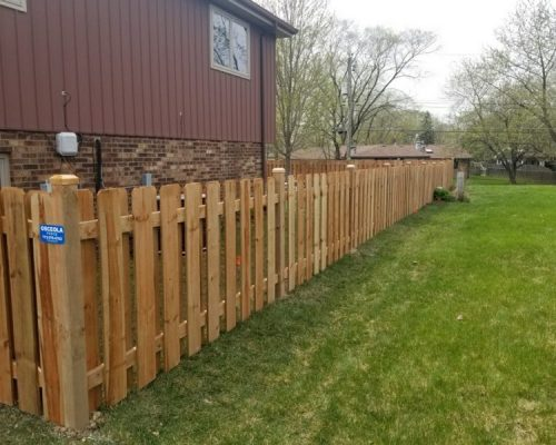 Spindle Picket Wood Fence Styles-residential wood fencing