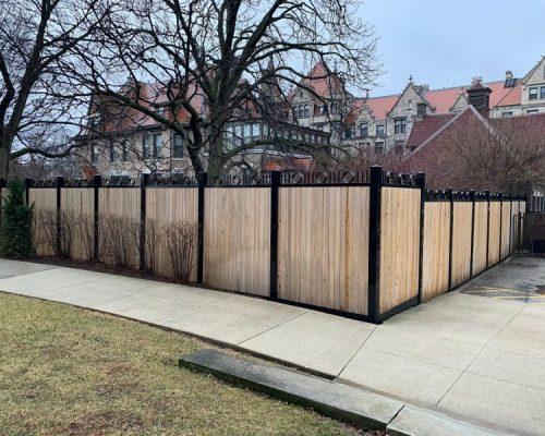 Steel Post Wood Fence Options-wood fence repair