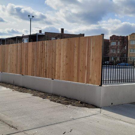 commercial wood fences chicago il