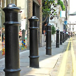 iron bollards installation chicago company