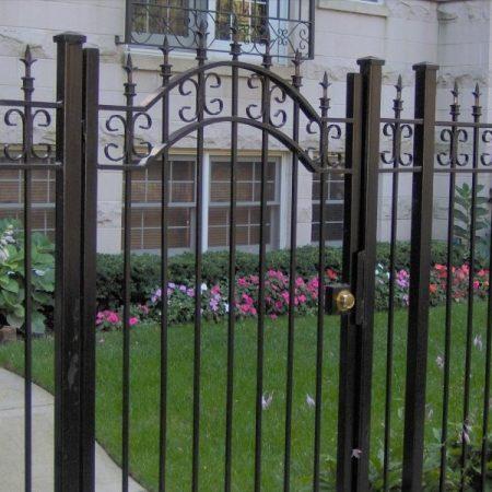 osceola fence chicago- wrought iron fence 5
