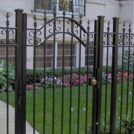 osceola fence chicago- wrought iron fence 5