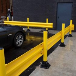 yellow parking guardrails chicago